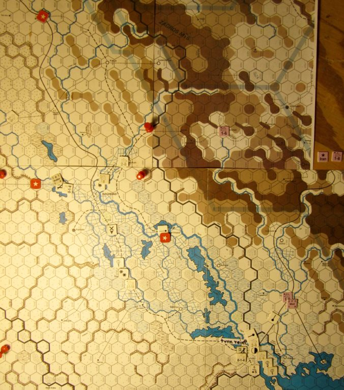 Jul II 41 Allied end of the Movement Phase dispositions: Iraq