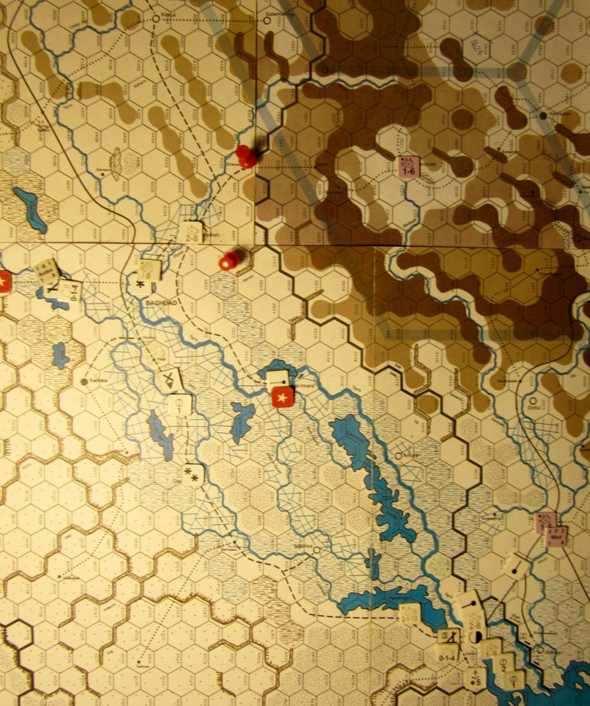 Jul II 41 Allied EOT dispositions: Eastern Iraq and western Iran