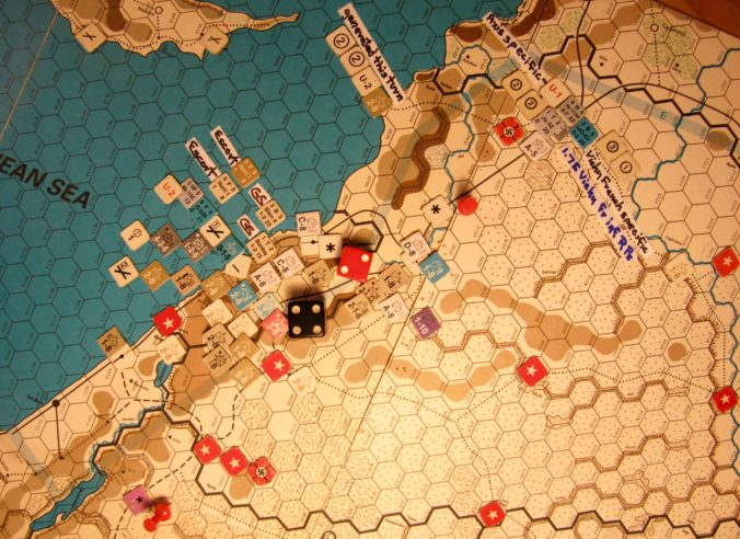 Jul II 41 Allied Combat Phase: Assault on Vichy Levante