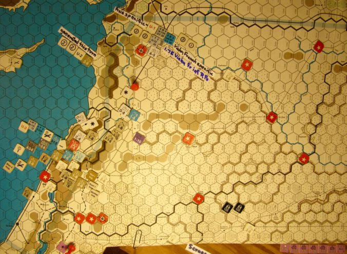 Jul II 41 Allied end of the Combat Phase dispositions