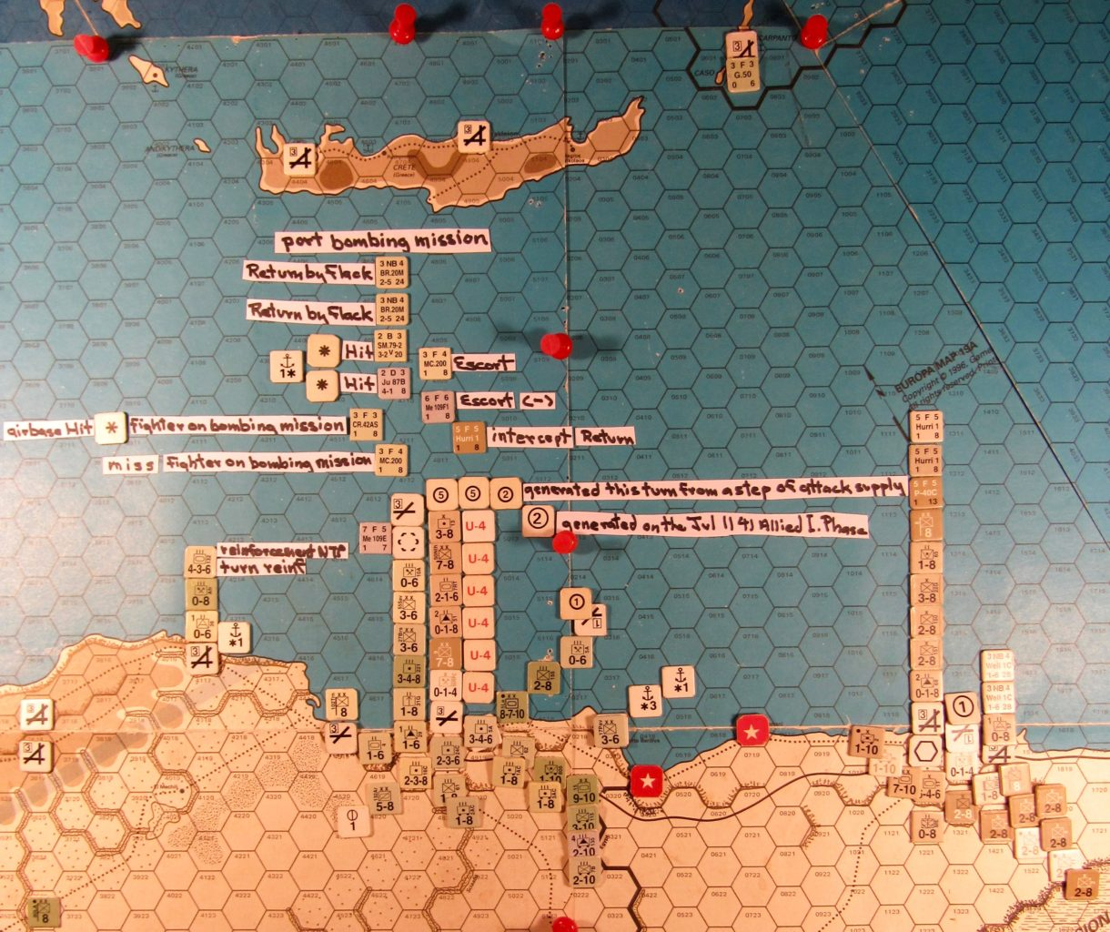 Jul II Axis end of the naval movement step and the Axis air op to the Tobruch hex