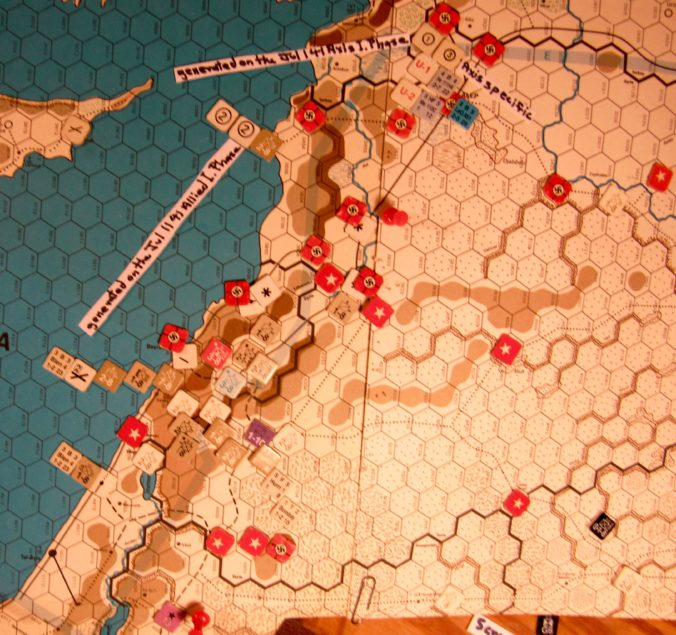 Jul II 41 Axis end of step 13 of the I. Phase; the Vichy French Levant has surrendered at step 4