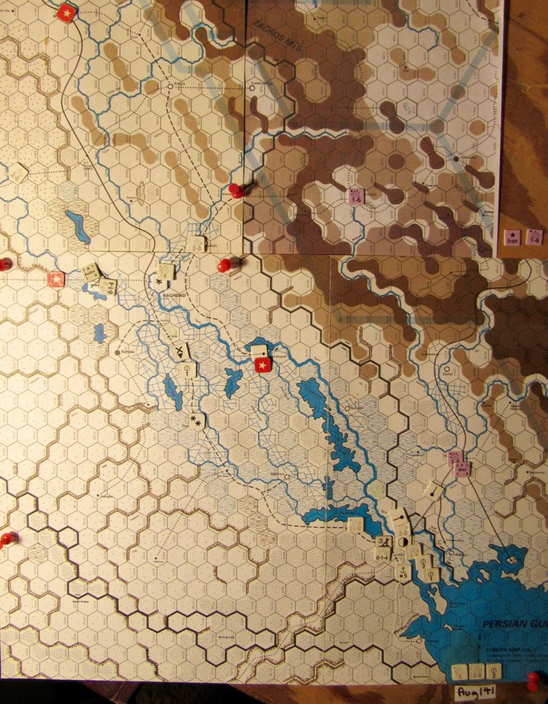 Aug I 41 Allied end of the I. Phase dispositions in Iraq