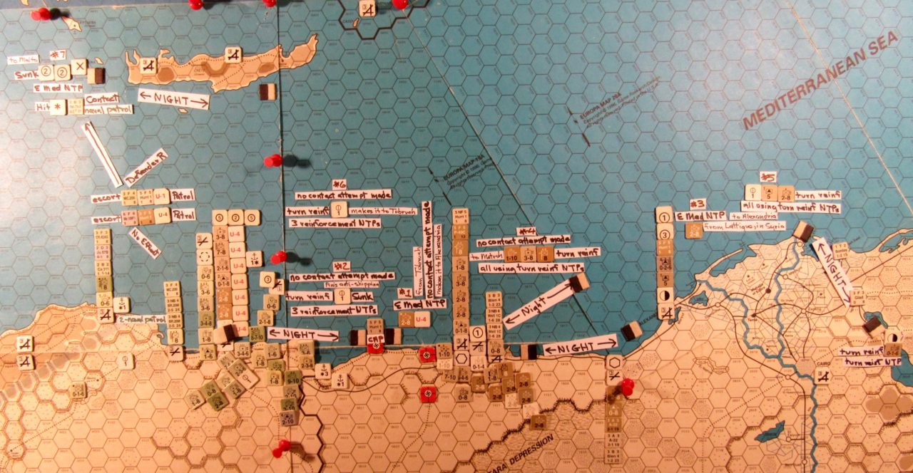 Aug I 41 naval movement step action details north of the Westen Desert region