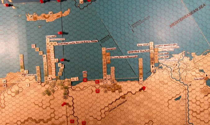 Aug I 41 Allied end of the naval movement step, Central Mediterranean
