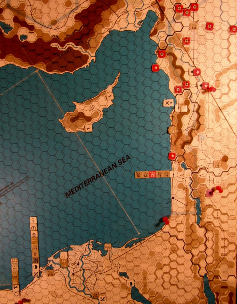 Aug I 41 Allied end of the Movement Phase dispositions: Eastern Mediterranean.