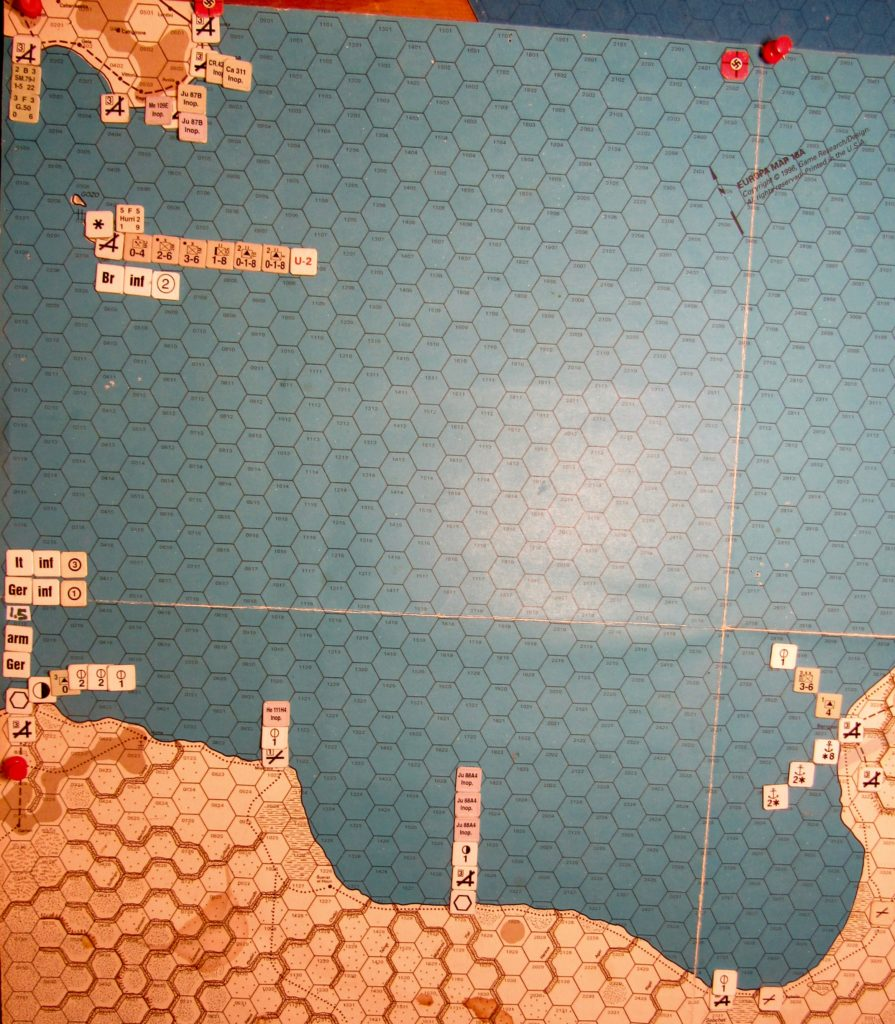 Aug I 41 Allied EOT dispositions: Central Mediterranean
