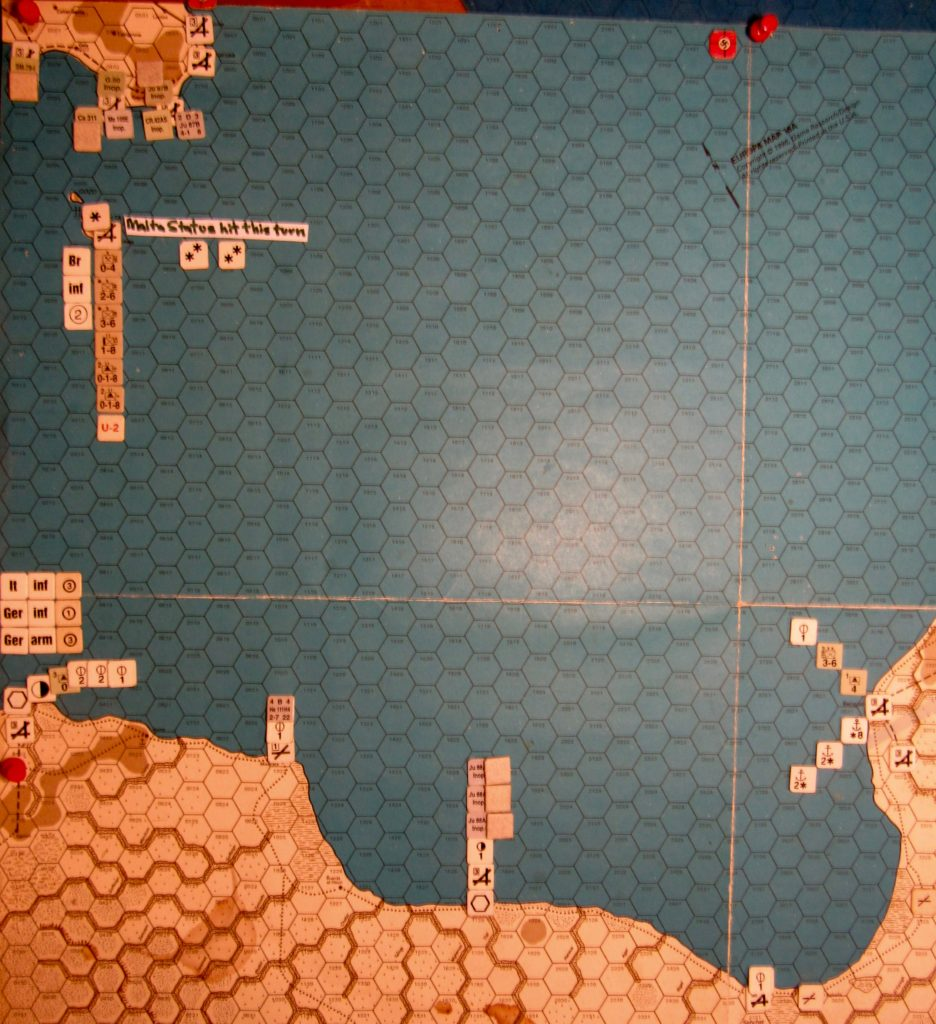 Aug I 41 Axis end of the naval movement step: Central Mediterranean
