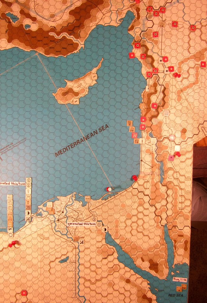 Aug II 41 Allied end of the Initial Phase disposition: Eastern Mediterranean