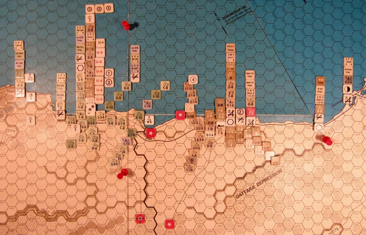 Aug II 41 Allied EOT dispositions: Western Desert
