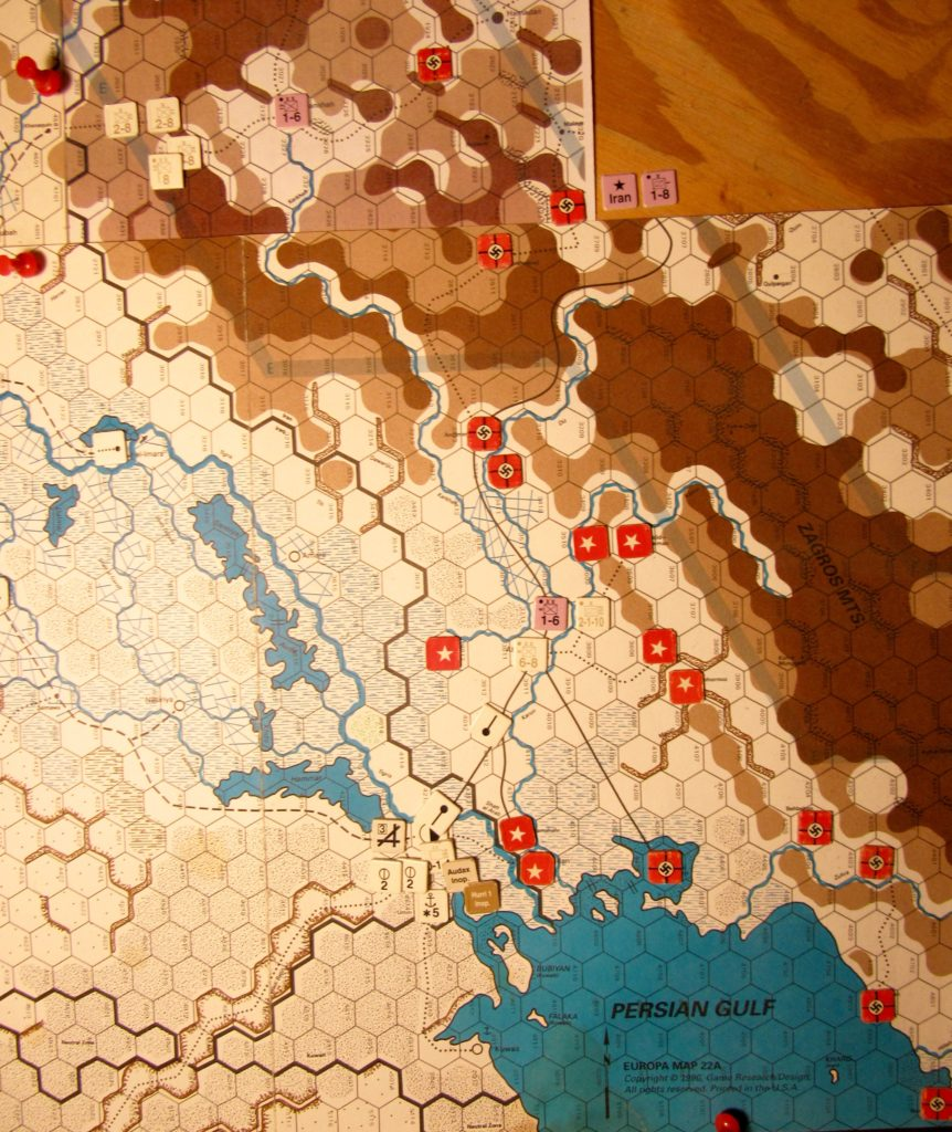 Aug II 41 Allied EOT dispositions: Eastern Iraq and western Ira