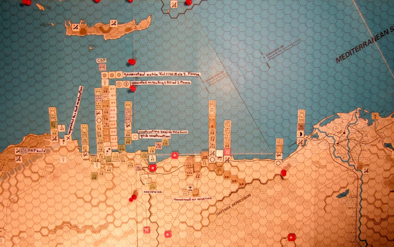 Aug II 41 Axis end of step 22 of the Initial Phase dispositions, Western Desert