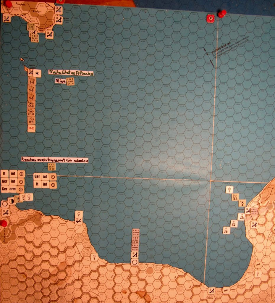 Aug II 41 Axis end of the naval movement step of the Movement Phase dispositions, Gulf of Sidra