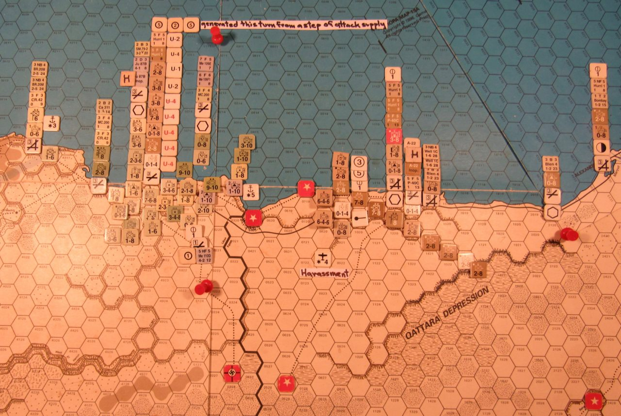 Sep I 41 Axis end of the Initial Phase dispositions, Western Desert