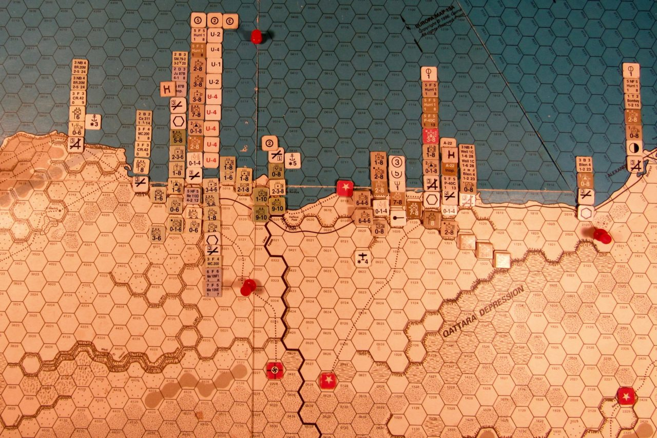 Sep I 41 Axis end of the Movement Phase dispositions: Western Desert