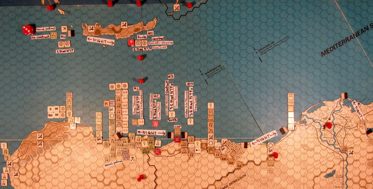 Sep II 41 Allied Movement Phase action details: Between Crete and Lybia