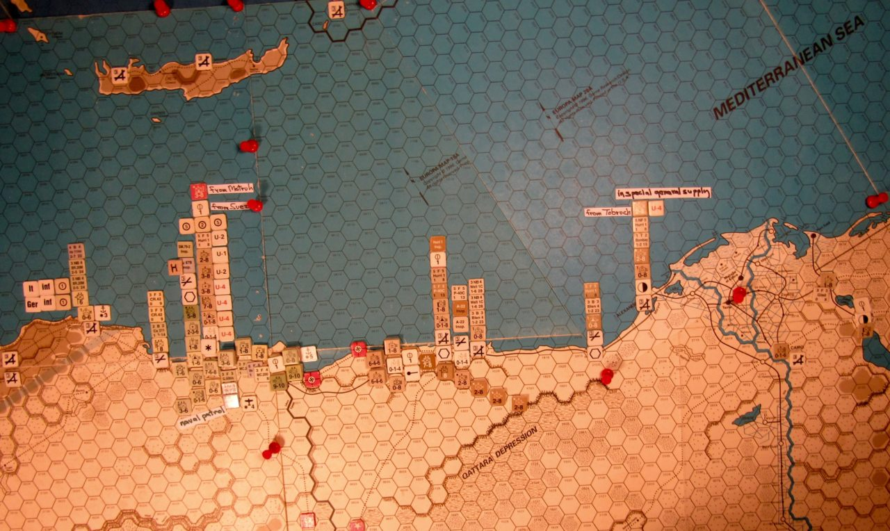 Sep II 41 Allied end of the naval movement step dispositions
