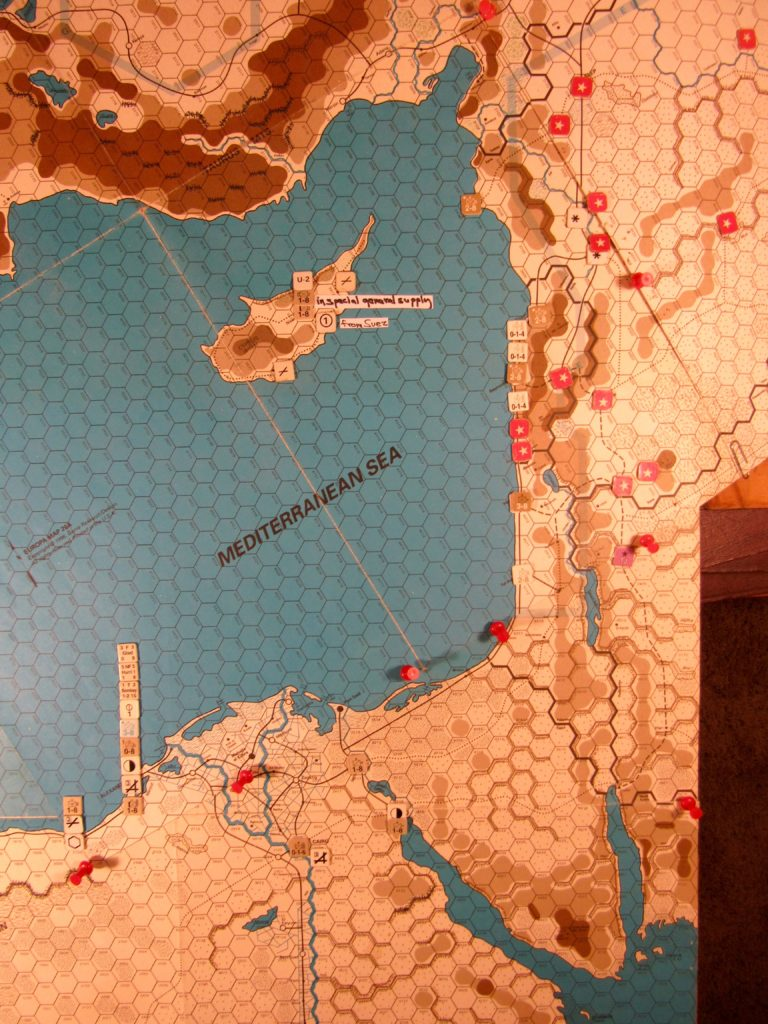 Oct II 41 Allied end of the Movement Phase dispositions, WEstern Mediterranean