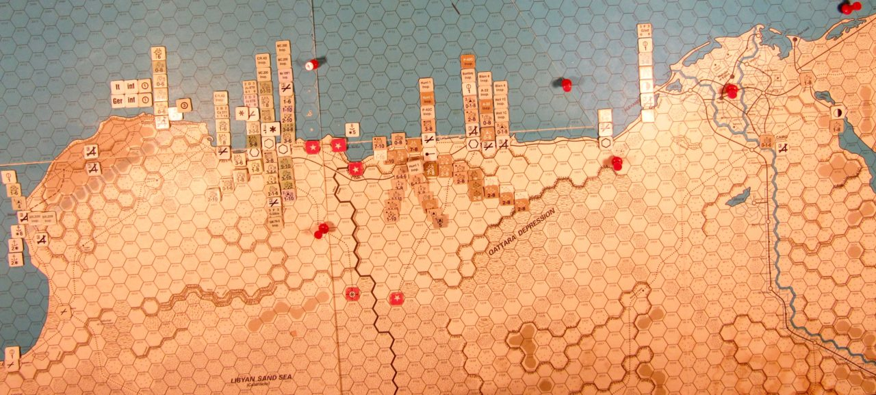 Oct II 41 Allied EOT dispositions, Western Desert