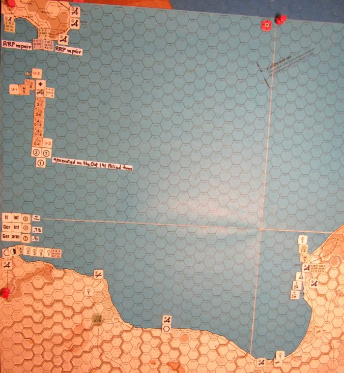 Oct II 41 Axis end of the I. Phase dispositions: Central Mediterranean