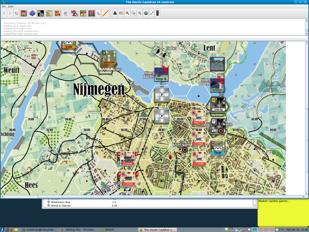 Vassal Playing Aid Screenshot